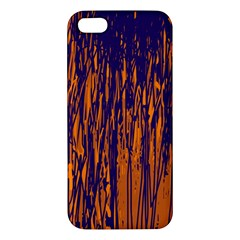 Blue and orange pattern Apple iPhone 5 Premium Hardshell Case