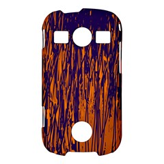 Blue and orange pattern Samsung Galaxy S7710 Xcover 2 Hardshell Case