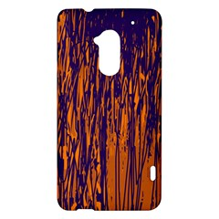 Blue and orange pattern HTC One Max (T6) Hardshell Case