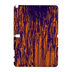 Blue and orange pattern Samsung Galaxy Note 10.1 (P600) Hardshell Case