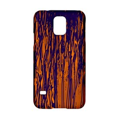 Blue and orange pattern Samsung Galaxy S5 Hardshell Case