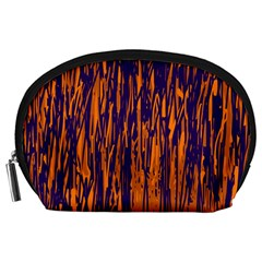 Blue and orange pattern Accessory Pouches (Large)