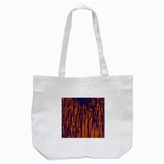 Blue and orange pattern Tote Bag (White)