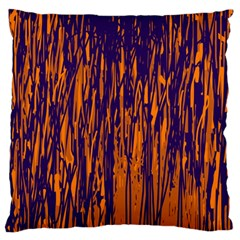 Blue and orange pattern Standard Flano Cushion Case (One Side)