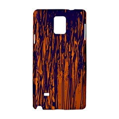 Blue and orange pattern Samsung Galaxy Note 4 Hardshell Case