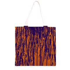 Blue and orange pattern Grocery Light Tote Bag