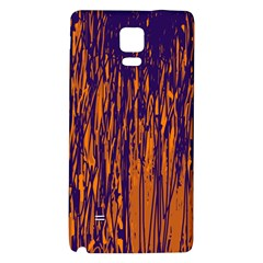 Blue and orange pattern Galaxy Note 4 Back Case