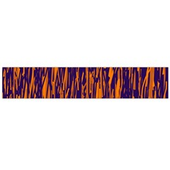 Blue and orange pattern Flano Scarf (Large)