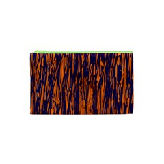 Blue and orange pattern Cosmetic Bag (XS)