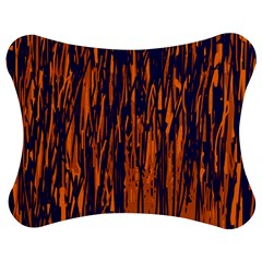 Blue and orange pattern Jigsaw Puzzle Photo Stand (Bow)