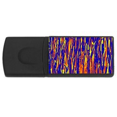 Orange, blue and yellow pattern USB Flash Drive Rectangular (2 GB)