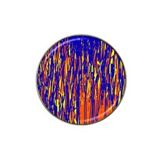Orange, blue and yellow pattern Hat Clip Ball Marker (10 pack)