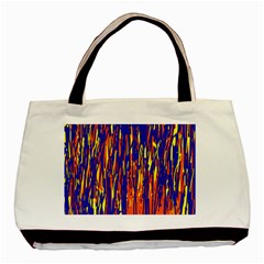 Orange, blue and yellow pattern Basic Tote Bag