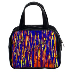 Orange, blue and yellow pattern Classic Handbags (2 Sides)