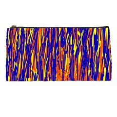Orange, blue and yellow pattern Pencil Cases