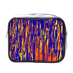 Orange, blue and yellow pattern Mini Toiletries Bags