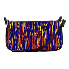 Orange, blue and yellow pattern Shoulder Clutch Bags