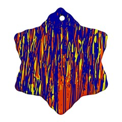 Orange, blue and yellow pattern Ornament (Snowflake)
