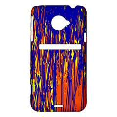 Orange, blue and yellow pattern HTC Evo 4G LTE Hardshell Case