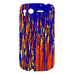 Orange, blue and yellow pattern HTC Desire S Hardshell Case