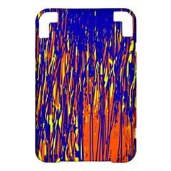 Orange, blue and yellow pattern Kindle 3 Keyboard 3G