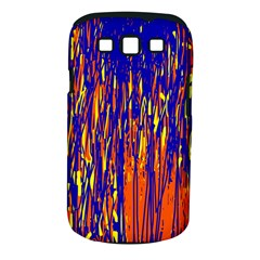 Orange, blue and yellow pattern Samsung Galaxy S III Classic Hardshell Case (PC+Silicone)