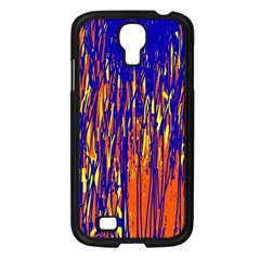 Orange, blue and yellow pattern Samsung Galaxy S4 I9500/ I9505 Case (Black)