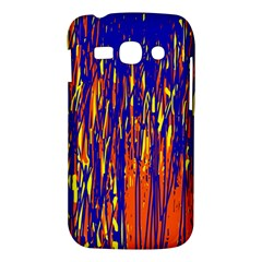 Orange, blue and yellow pattern Samsung Galaxy Ace 3 S7272 Hardshell Case