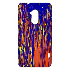 Orange, blue and yellow pattern HTC One Max (T6) Hardshell Case
