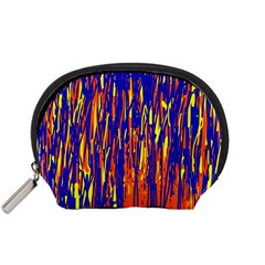 Orange, blue and yellow pattern Accessory Pouches (Small)