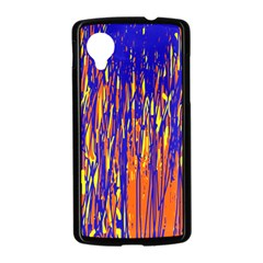 Orange, blue and yellow pattern Nexus 5 Case (Black)