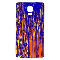Orange, blue and yellow pattern Galaxy Note 4 Back Case