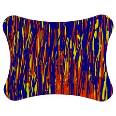 Orange, Blue And Yellow Pattern Jigsaw Puzzle Photo Stand (bow)