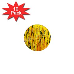 Yellow pattern 1  Mini Magnet (10 pack)