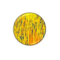 Yellow pattern Hat Clip Ball Marker (4 pack)