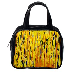 Yellow pattern Classic Handbags (One Side)