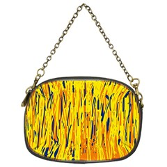 Yellow pattern Chain Purses (One Side)
