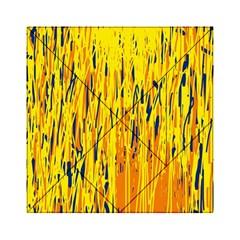 Yellow pattern Acrylic Tangram Puzzle (6  x 6 )