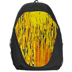 Yellow pattern Backpack Bag