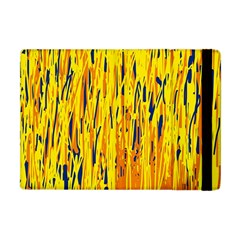 Yellow pattern Apple iPad Mini Flip Case