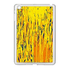 Yellow pattern Apple iPad Mini Case (White)