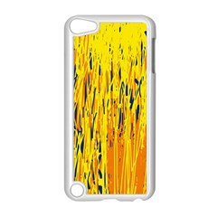 Yellow pattern Apple iPod Touch 5 Case (White)