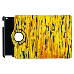 Yellow pattern Apple iPad 2 Flip 360 Case