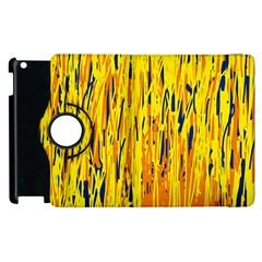 Yellow pattern Apple iPad 3/4 Flip 360 Case