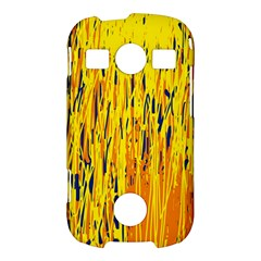 Yellow pattern Samsung Galaxy S7710 Xcover 2 Hardshell Case