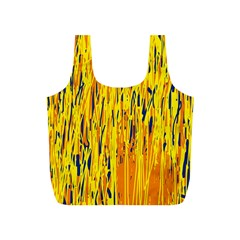 Yellow pattern Full Print Recycle Bags (S)