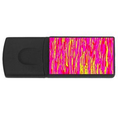 Pink and yellow pattern USB Flash Drive Rectangular (1 GB)