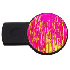 Pink and yellow pattern USB Flash Drive Round (4 GB)