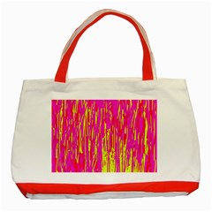 Pink and yellow pattern Classic Tote Bag (Red)