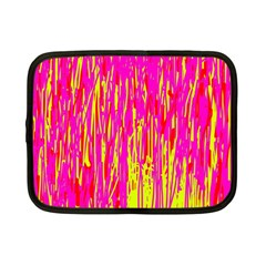 Pink and yellow pattern Netbook Case (Small)